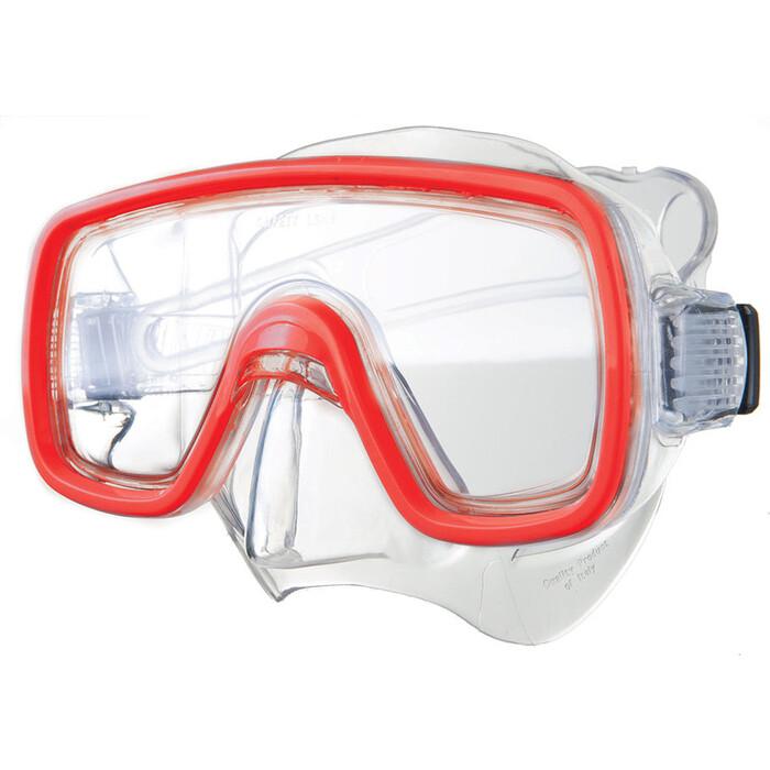 Маска для плавания Salvas Domino Sr Mask, арт. CA150C1TRSTH, закален.стекло, Silflex, р. Senior, красн маска для плавания salvas geo sr mask арт ca175s1rysth закален стекло силикон р senior красный