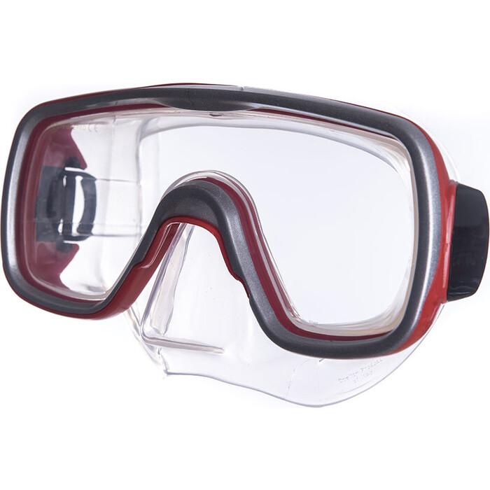 Маска для плавания Salvas Geo Md Mask, арт. CA140S1RYSTH, закален.стекло, силикон, р. Medium, красный маска для плавания salvas geo sr mask арт ca175s1rysth закален стекло силикон р senior красный