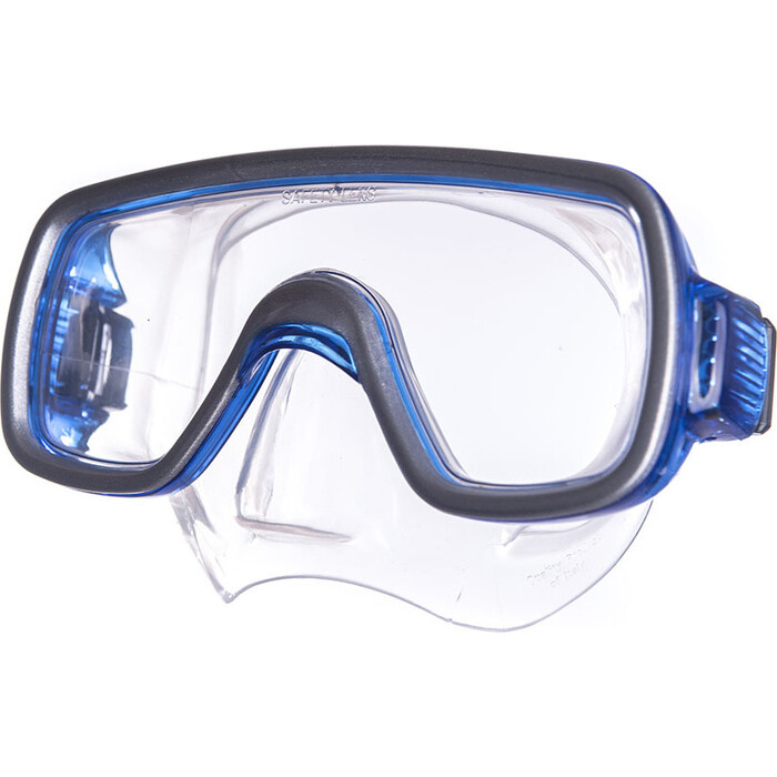 Маска для плавания Salvas Geo Sr Mask, арт. CA175S1BYSTH, закален.стекло, силикон, р. Senior, синий маска для плавания salvas geo sr mask арт ca175s1rysth закален стекло силикон р senior красный