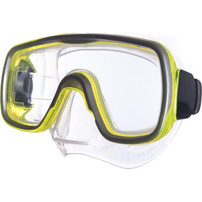 Маска для плавания Salvas Geo Sr Mask, арт. CA175S1GYSTH, закален.стекло, силикон, р. Senior, желтый маска для плавания salvas geo sr mask арт ca175s1rysth закален стекло силикон р senior красный