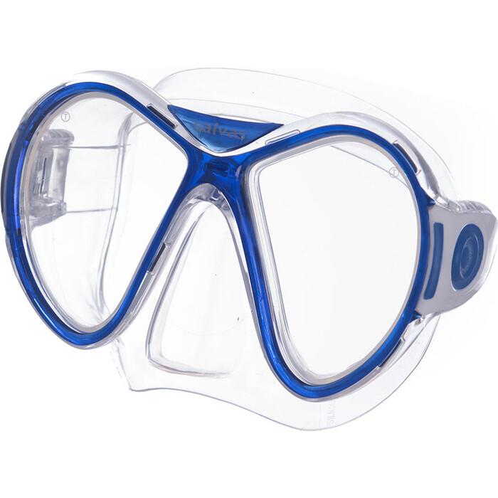 Маска для плавания Salvas Kool Mask, арт. CA550S2TBSTH, закален.стекло, силикон, р. Senior, синий маска для плавания salvas phoenix mask арт ca520s2bysth зак стекло силикон р senior сереб син