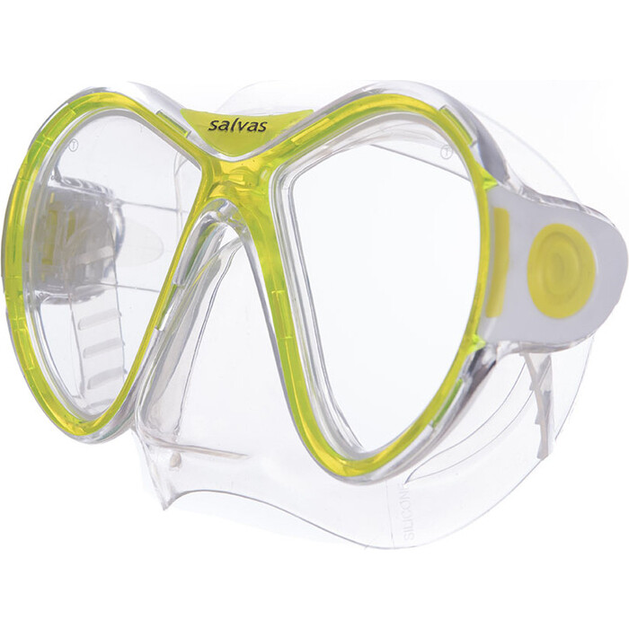 Маска для плавания Salvas Kool Mask, арт. CA550S2TGSTH, закален.стекло, силикон, р. Senior, желтый маска для плавания salvas phoenix mask арт ca520s2bysth зак стекло силикон р senior сереб син