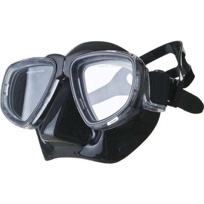 Маска для плавания Salvas Neptun Black, арт. CA515N2TNSTH, закален.стекло, силикон, р. Senior, черный маска для плавания salvas phoenix mask арт ca520s2bysth зак стекло силикон р senior сереб син