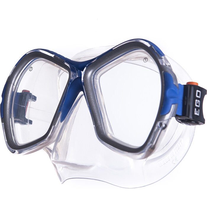 Маска для плавания Salvas Phoenix Mask, арт. CA520S2BYSTH, зак.стекло, силикон, р. Senior, сереб/син маска для плавания salvas geo sr mask арт ca175s1rysth закален стекло силикон р senior красный