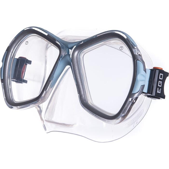 Маска для плавания Salvas Phoenix Mask, арт. CA520S2QYSTH, зак.стекло, силикон, р. Senior, сереб/голуб маска для плавания salvas geo sr mask арт ca175s1rysth закален стекло силикон р senior красный