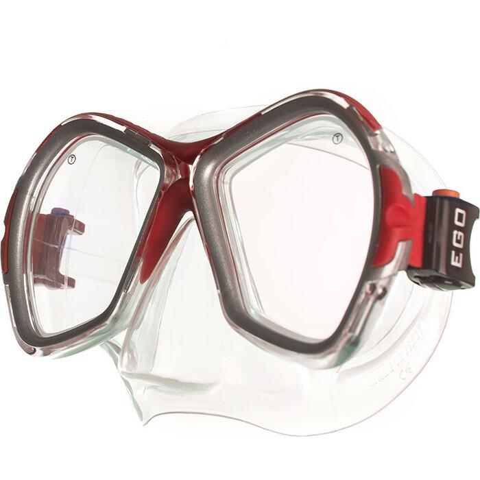 Маска для плавания Salvas Phoenix Mask, арт. CA520S2RYSTH, зак.стекло, силикон, р. Senior, сереб/красн маска для плавания salvas geo sr mask арт ca175s1rysth закален стекло силикон р senior красный