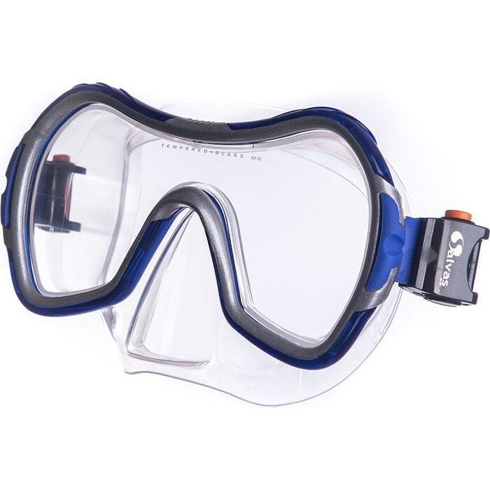 Маска для плавания Salvas Viva Sr Mask, арт. CA535S1BYSTH, закален.стекло, силикон, р. Senior, серебр маска для плавания salvas geo sr mask арт ca175s1rysth закален стекло силикон р senior красный