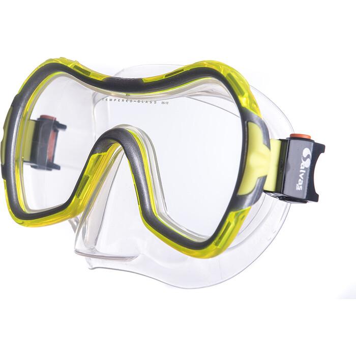 Маска для плавания Salvas Viva Sr Mask, арт. CA535S1GYSTH, закален.стекло, силикон, р. Senior, желтый маска для плавания salvas geo sr mask арт ca175s1rysth закален стекло силикон р senior красный