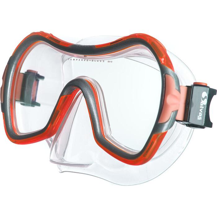 Маска для плавания Salvas Viva Sr Mask, арт. CA535S1RYSTH, закален.стекло, силикон, р. Senior, красный маска для плавания salvas geo sr mask арт ca175s1rysth закален стекло силикон р senior красный