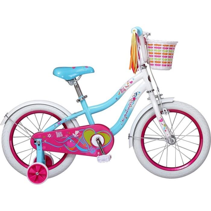 Фото - Велосипед Schwinn 16 Iris детский, голубой/белый детский велосипед tong yue 2 3 6 8 12 14 16 18