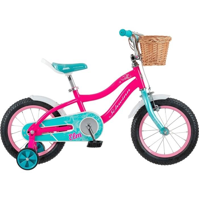 Фото - Велосипед Schwinn 14 Elm + корзина детский, розовый детский велосипед tong yue 2 3 6 8 12 14 16 18
