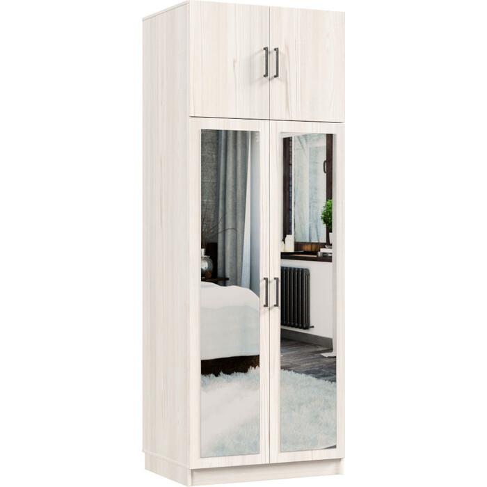 Распашной шкаф Классика 822 фасад зеркальный ЛДСП (каркас каттхульт, фасад каттхульт) 822.800.2400.450.03.03