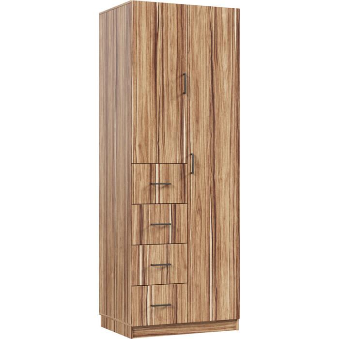Распашной шкаф Классика 879 фасад ЛДСП (каркас инди эбони, фасад инди эбони) 879.800.2400.600.09.09