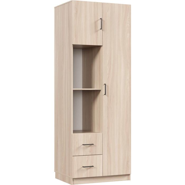 Распашной шкаф Классика 882 фасад ЛДСП (каркас ясень шимо светлый, фасад ясень шимо светлый) 882.800.2200.450.01.01