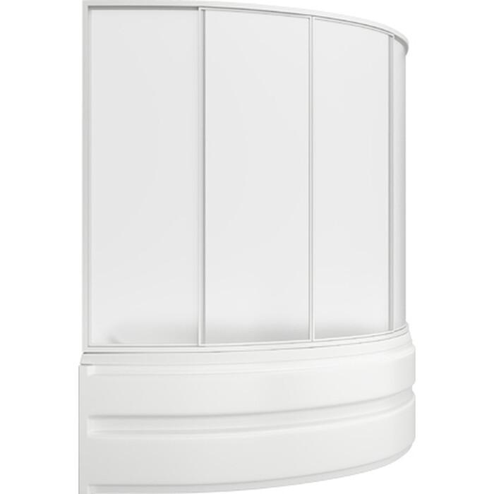 Акриловая ванна BAS Алегра 150х90 левая, со шторкой, каркасом и панелью