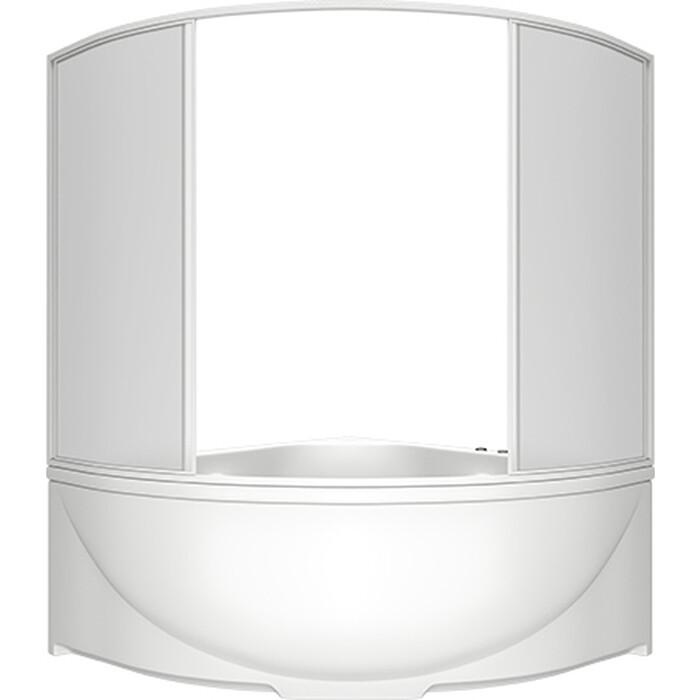 Акриловая ванна BAS Дрова 160х160 со шторкой, каркасом и панелью
