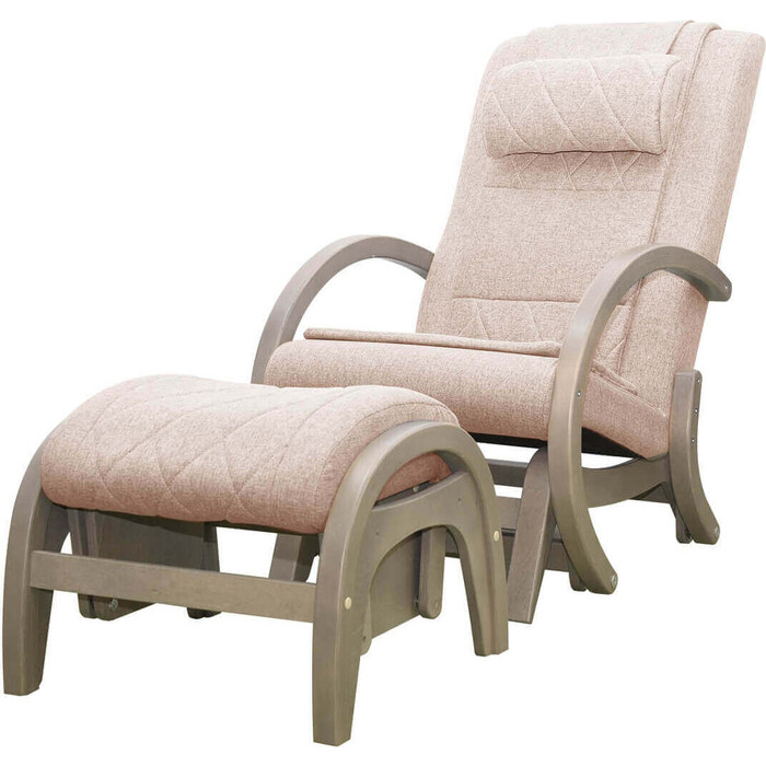 Кресло-качалка массажное EGO TWIST EG-2004 SHIMO бежевый (TONY12) с пуфом