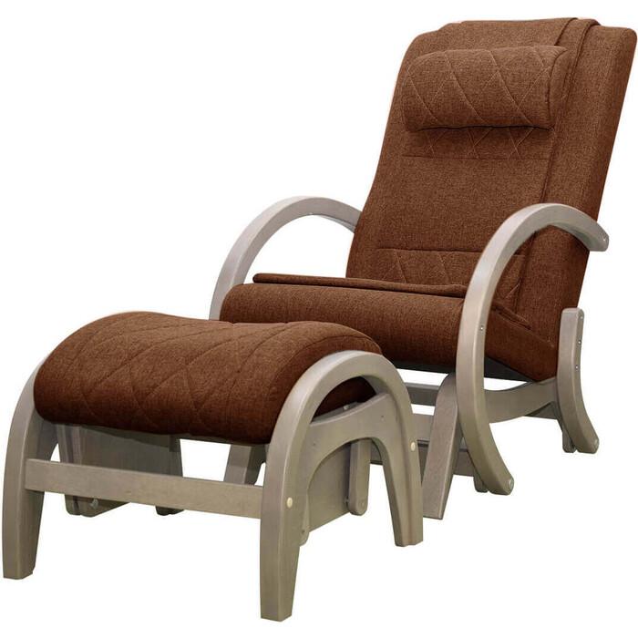 Кресло-качалка массажное EGO TWIST EG-2004 SHIMO коричневый (TONY8) с пуфом