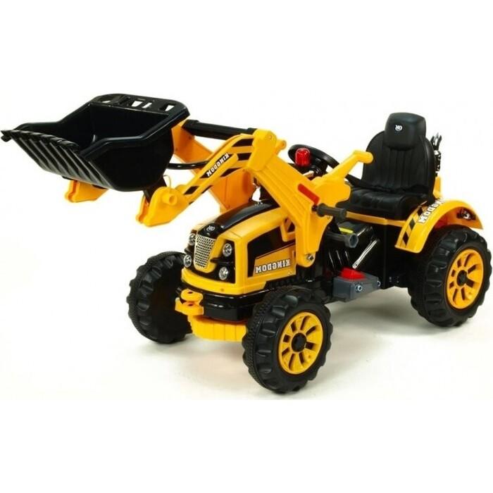 детский электромобиль jiajia bmw x6m black 12v jj2168 Детский электромобиль Jiajia трактор на аккумуляторе - JS328A-Yellow