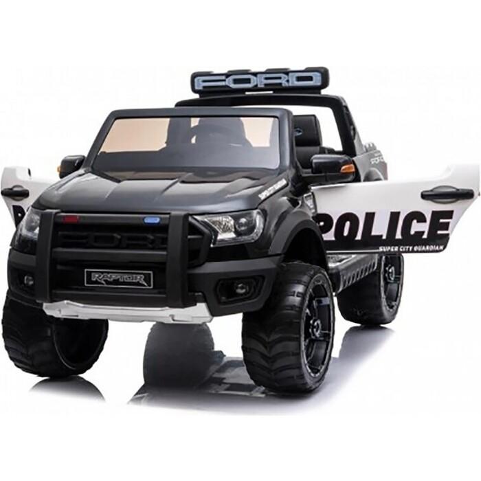 Детский электромобиль Dake Ford Ranger Raptor Police с мигалками - DK-F150RP-BLACK-PAINT