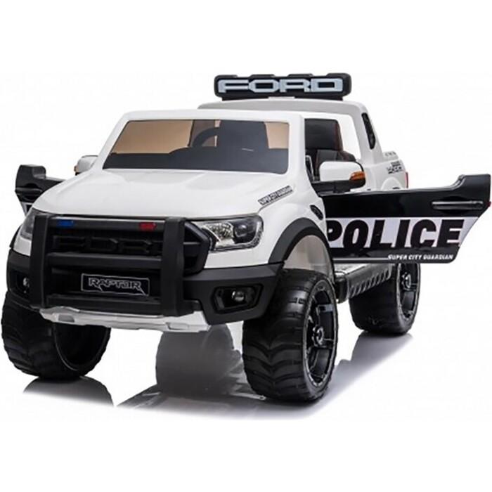 Детский электромобиль Dake Ford Ranger Raptor Police с мигалками - DK-F150RP-WHITE