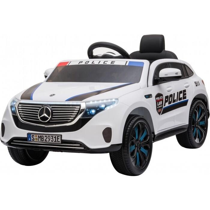 Детский электромобиль Harleybella Mercedes Benz Police EQC 400 4MATIC - HL378-WHITE