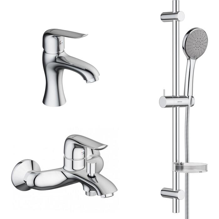 Комплект смесителей RedBlu by Damixa Palace Evo 2 для раковины, ванны, душевой гарнитур, хром