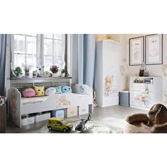 Набор детской мебели ТриЯ Тедди №2 белый с рисунком