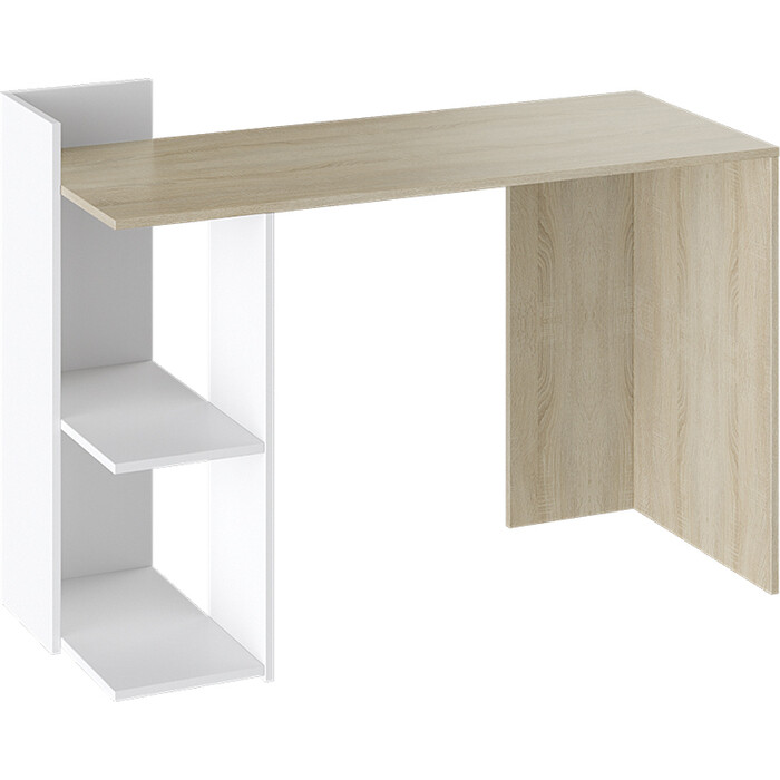 Стол письменный ТриЯ Тип 1 дуб сонома/белый стол обеденный трия ливерпуль тип 1 дуб сонома трюфель металлик