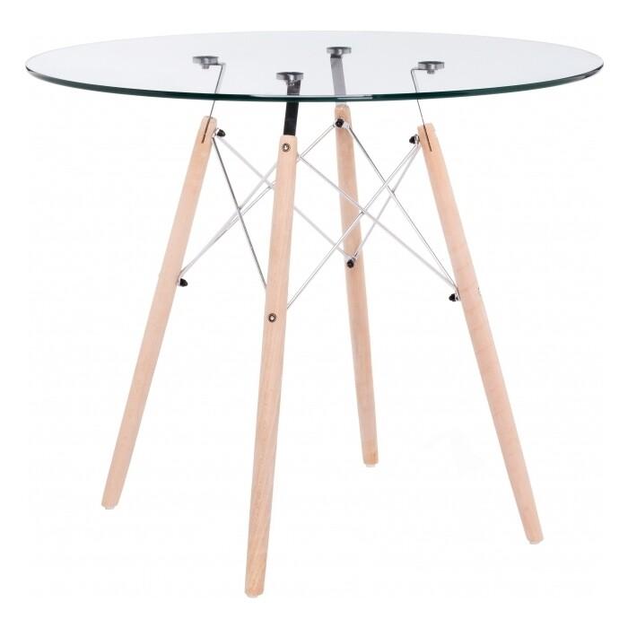 Стеклянный стол Woodville PT-151 80 стеклянный стол woodville анселм белый