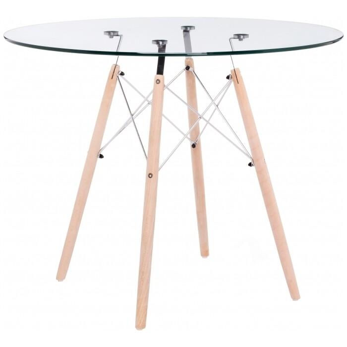 Стеклянный стол Woodville PT-151 90 стеклянный стол woodville анселм белый