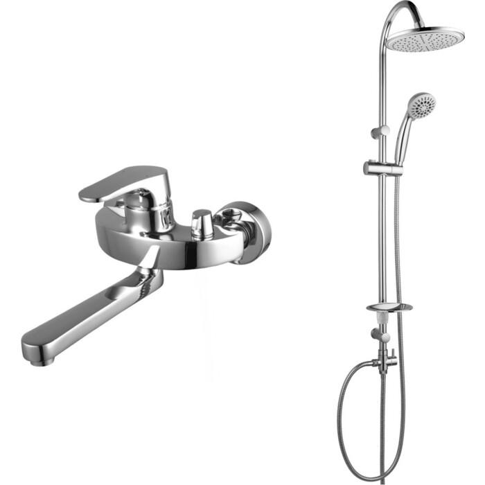Смеситель для ванны Lemark Shift с душем, хром (LM4314C, LM8801C)
