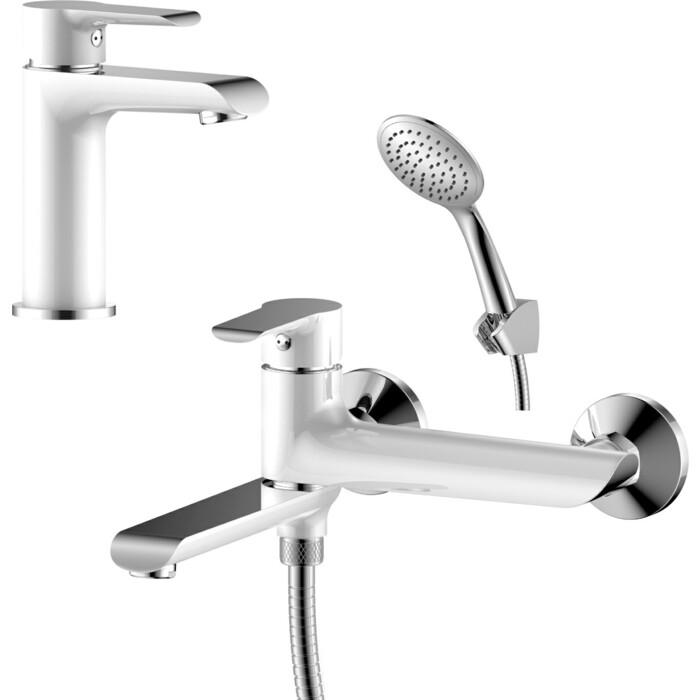 Комплект смесителей Rossinka Silvermix для раковины и ванны, с душем, хром (W35-33, W35-12)