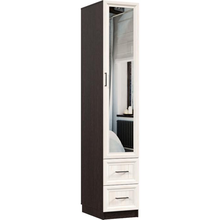 Распашной шкаф Классика 420 фасад зеркальный рамочный (каркас венге, каттхульт) Рам.420.400.2200.600.06.03