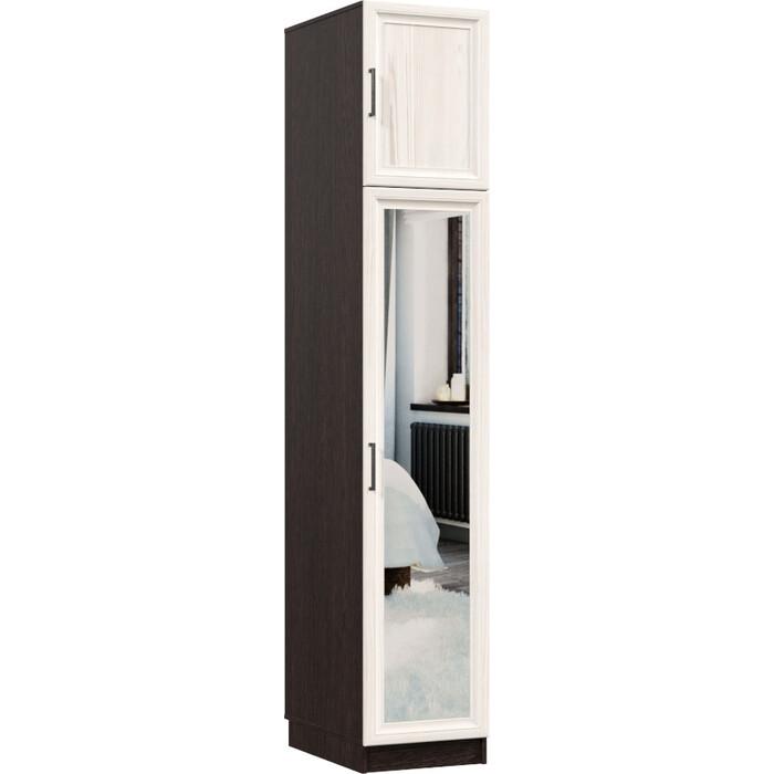 Распашной шкаф Классика 426 фасад зеркальный рамочный (каркас венге, каттхульт) Рам.426.400.2200.450.06.03