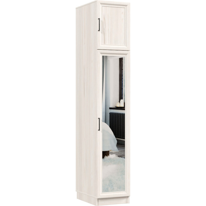 Распашной шкаф Классика 430 фасад зеркальный рамочный (каркас каттхульт, каттхульт) Рам.430.400.2400.450.03.03