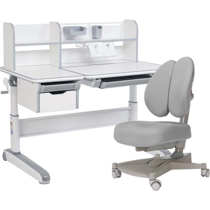 FunDesk Комплект парта Libro grey + кресло Contento grey