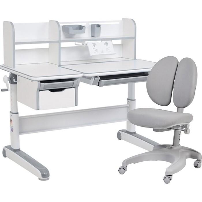 FunDesk Комплект парта Libro grey + кресло Solerte grey