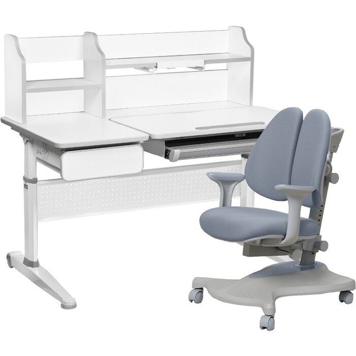FunDesk Комплект парта Abelia grey + кресло Bellis grey