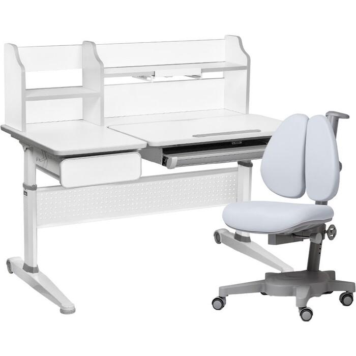 FunDesk Комплект парта Abelia grey + кресло Brassica grey