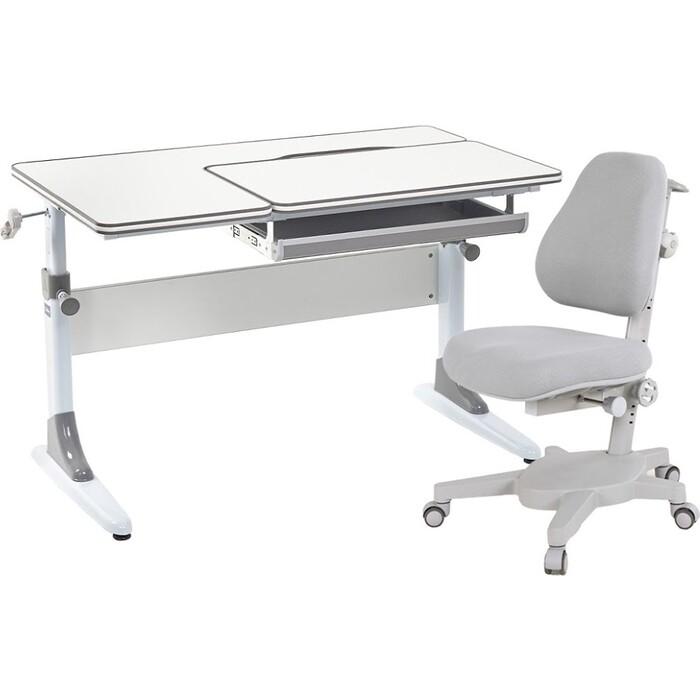 FunDesk Комплект парта Grato grey + кресло Solidago