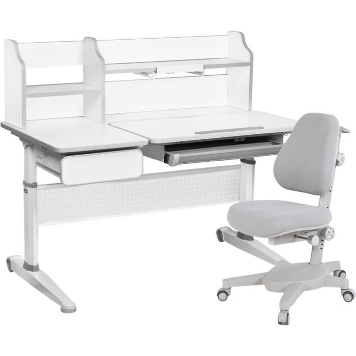 FunDesk Комплект парта Abelia grey + кресло Solidago
