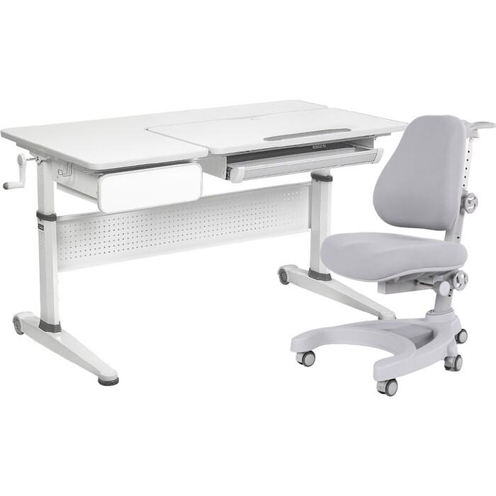 FunDesk Комплект парта Aster grey + кресло Magnolia grey