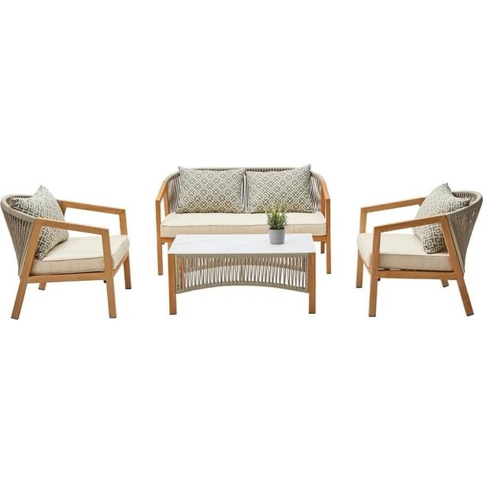 Набор мебели (стол + 2 кресла диван) Garden story Бордо