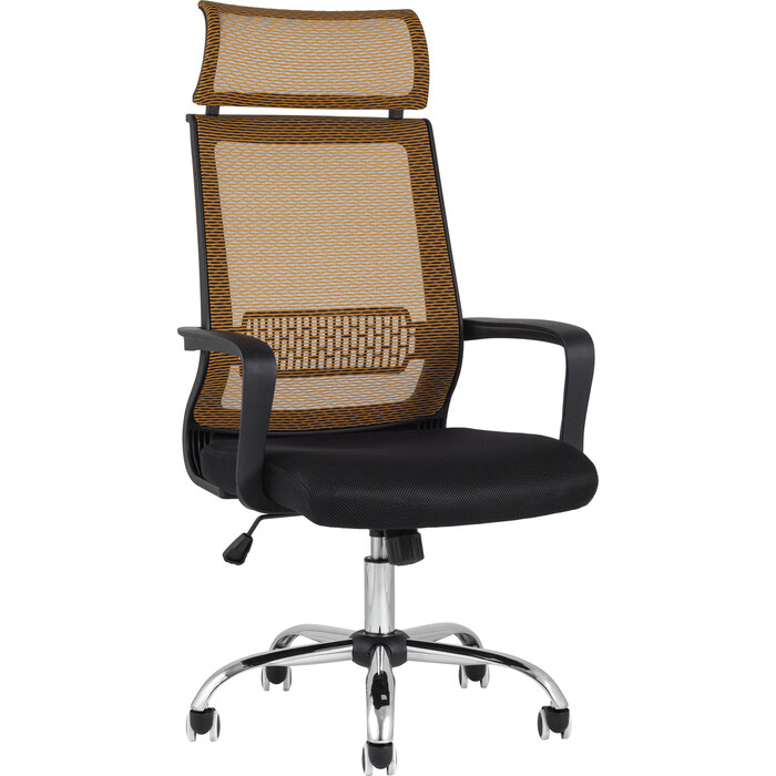 Кресло офисное TopChairs Style оранжевое