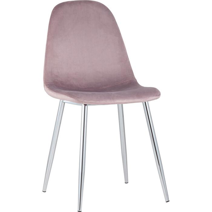 Стул Stool Group Валенсия велюр розовый хромированные ножки