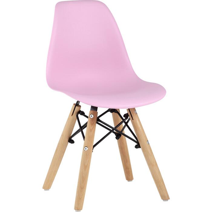 Фото - Stool Group Стул Eames small розовый, деревянные ножки стул stool group tariq голубой деревянные ножки tariq blue
