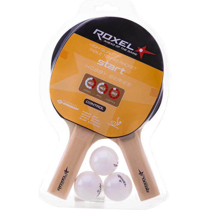 Набор для настольного тенниса Roxel Hobby Start (2 ракетки + 3 мяча)