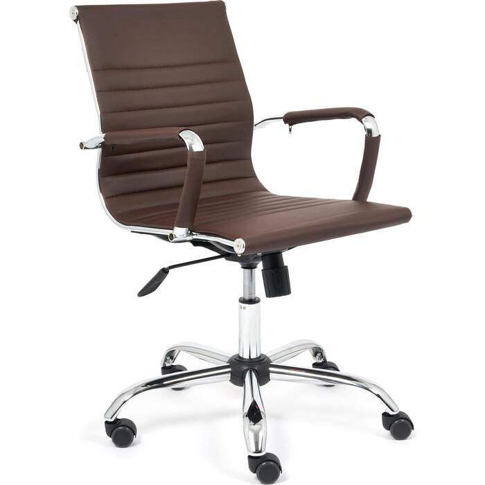 Компьютерное кресло TetChair Urban-low кож/зам, коричневый 36-36