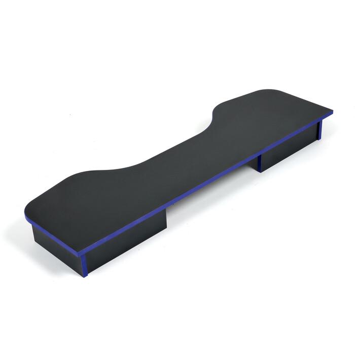Надстройка TetChair StrikeTop (120) neo black/blue черный/синяя кромка